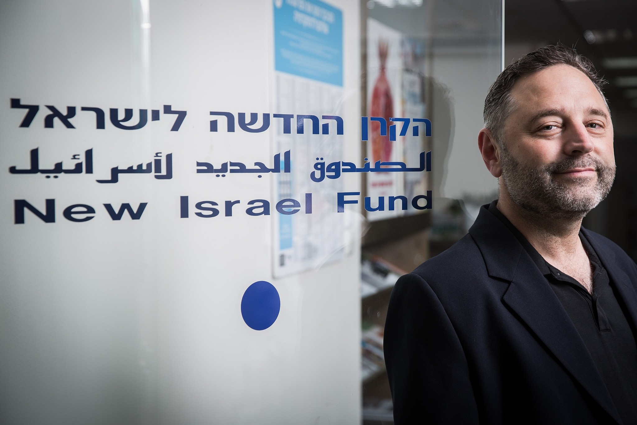 Daniel Sokatch CEO of the New Israel Fund at his office in Jerusalem
