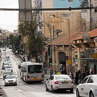 A view of King George Street in downtown Jerusalem on November 26, 2015 (Elon Kenig/Flash90)