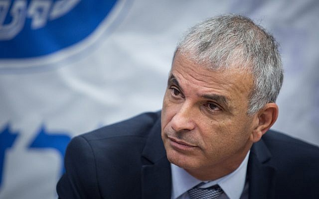 Finance Minister Moshe Kahlon at a press conference at the Finance Ministry in Jerusalem, January 8, 2018. (Hadas Parush/Flash90)