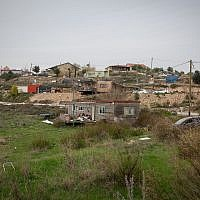 View of the West Bank outpost of Havat Gilad, January 10, 2018 (Miriam Alster/Flash90)