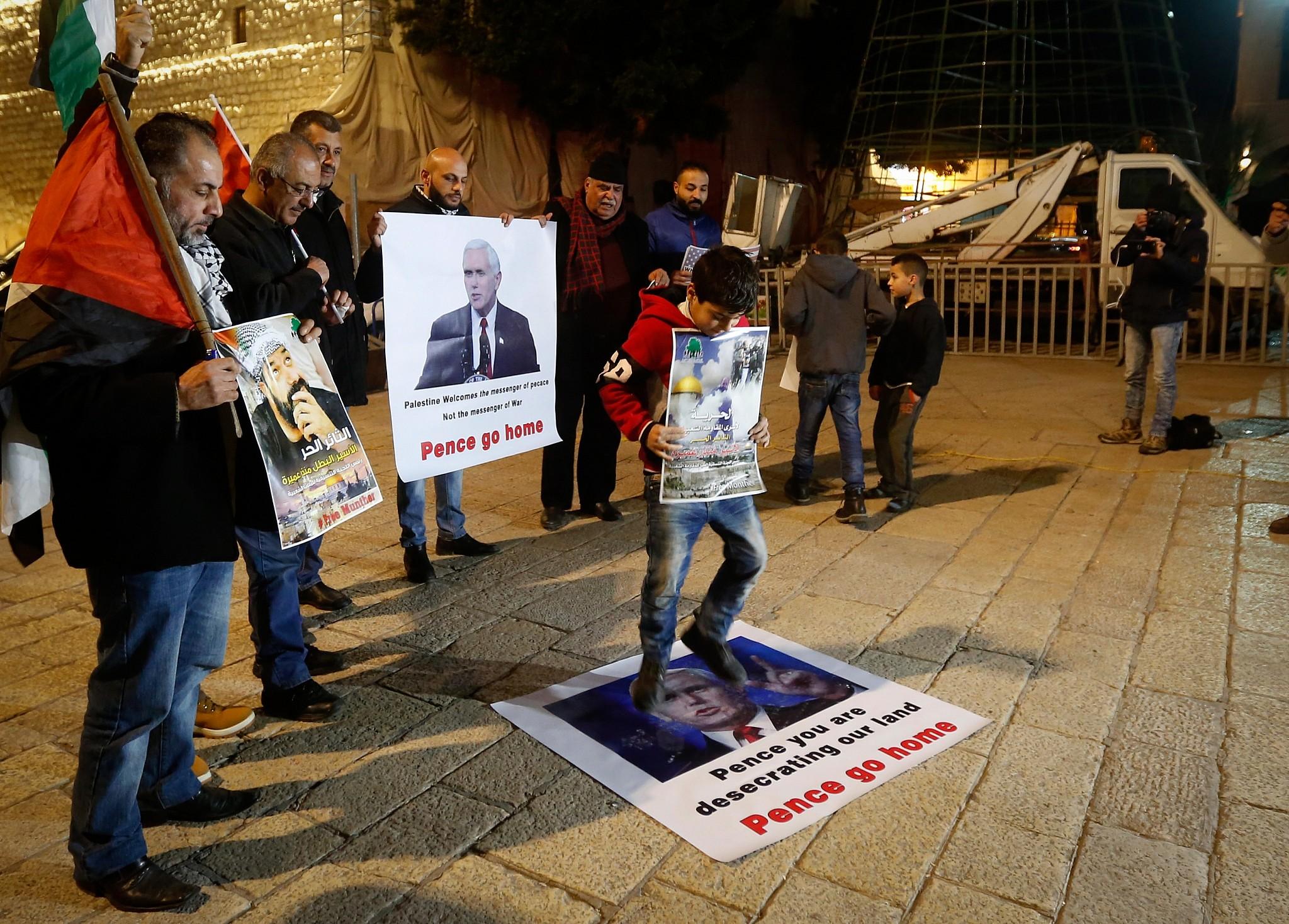 Palestinian Christians slam Pence's pro-Israel faith | The