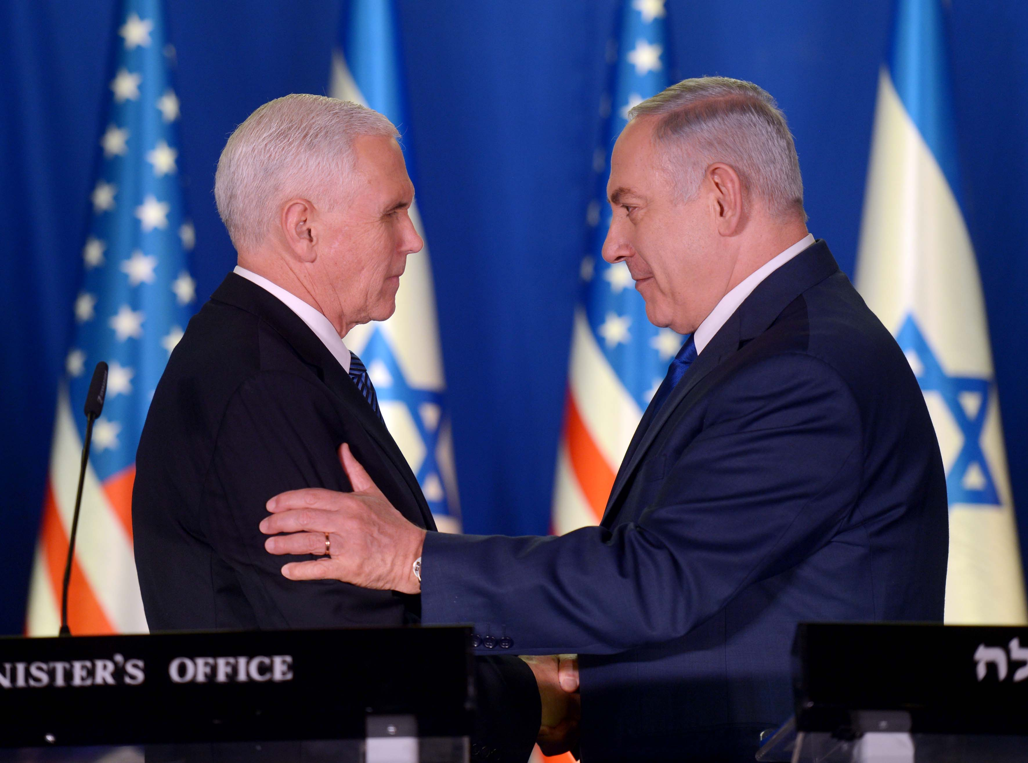 Pence backs two-state Mideast solution