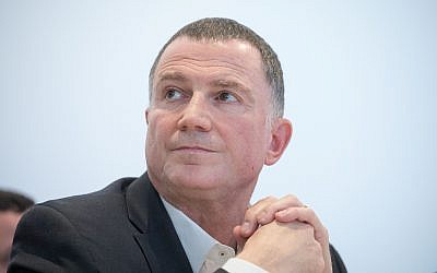 Knesset Speaker Yuli Edelstein, on January 30, 2018. (Miriam Alster/Flash90)