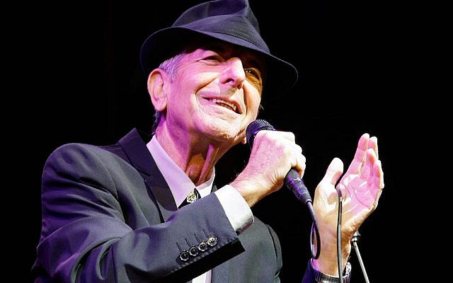Leonard Cohen performing during the Coachella Valley Music & Arts Festival 2009 at the Empire Polo Club in Indio, California, April 17, 2009. (Paul Butterfield/Getty Images via JTA)