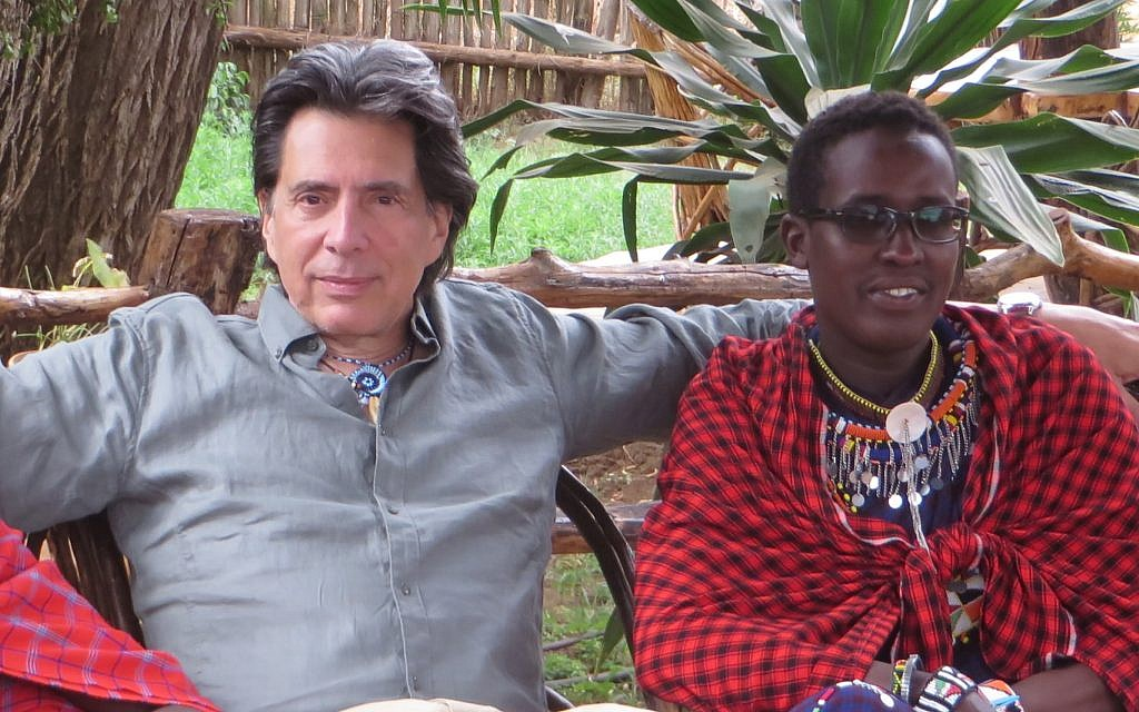 Eric Young with his Maasai 'brother' Nelson Ole Reiyia. (Courtesy)