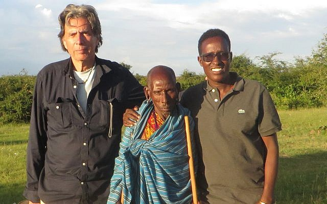 From left to right: Eric Young; Ole Kasoi, first landowner to join the Nashulai Conservancy; and Nelson Ole Reiyia. (Courtesy)
