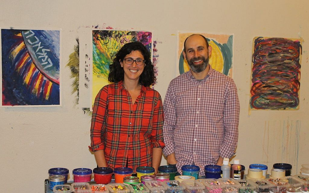 Rabbi Adina Allen and her husband, Jeff Kasowitz, founded the Jewish Studio Project in 2015 as a way for Jews to access their religion through art. (Ben Sales/JTA)