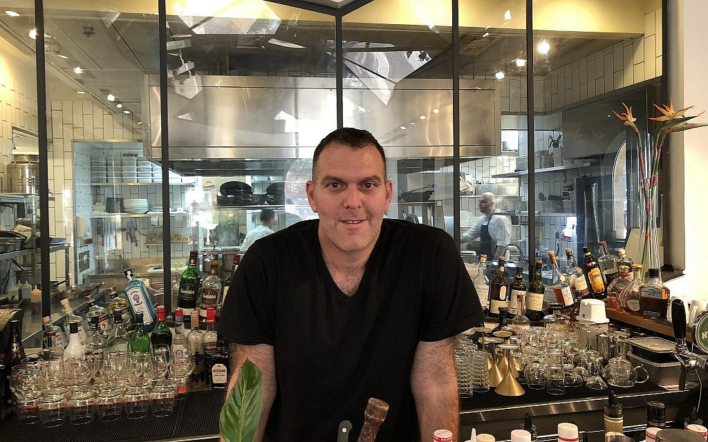 Marcos Gershkovitch, chef and co-owner of Angelica, one of Jerusalem's first upscale kosher restaurants (Jessica Steinberg/Times of Israel)