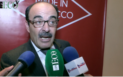 Ilyas El Omari speaks to reporters on May 27, 2017. (Screen capture/YouTube)