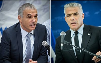 Kulanu head Moshe Kahlon, left; Yesh Atid leader Yair Lapid, right. (Photos Flash90)