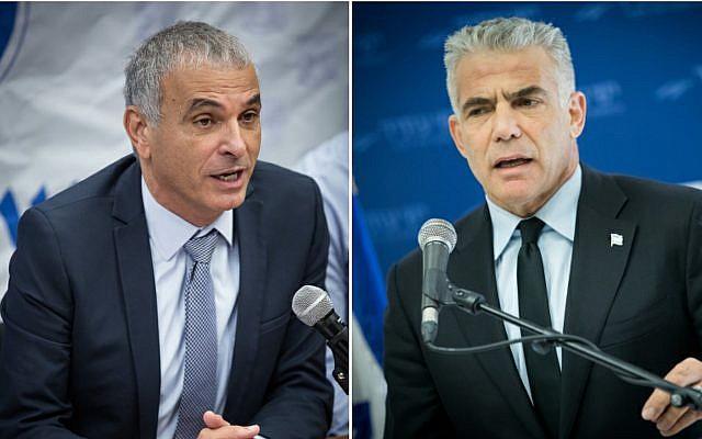 Kulanu head Moshe Kahlon, left; Yesh Atid leader Yair Lapid, right. (Photos Flash90)