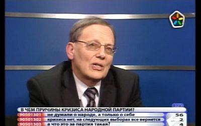 Deputy Speaker of the Latvian parliament Alexander Kirshtejns in 2013. (Screen capture: YouTube)