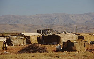 Illustrative image of Syrian refugee camp in Lebanon close to the Syrian border. (CC BY-SA Elgaard, Wikimedia Commons)
