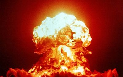 A nuclear explosion on April 18, 1953, as part of Operation Upshot-Knothole nuclear test series, at the US's Nevada Test Site. (US National Nuclear Security Administration Nevada Site Office/Wikipedia/public domain)