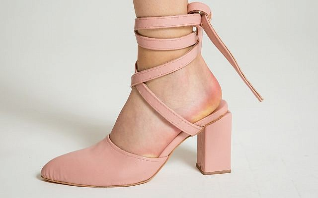 'Ballerina' by Daniel Charkow. Pink calf skin, nude goat skin lining. (Matt Feinstein)