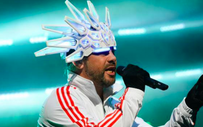 Jay Kay, the lead singer of Britain's funk jazz band Jamiroquai, which will perform in Israel on May 2, 2018 (Courtesy Jamiroquai Facebook page)