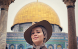 Victoria Koblenko posting a photo from Jerusalem. (Instagram)