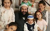 Rabbi Raziel Shevach (c) with his family, in an undated photo (Courtesy of the family)