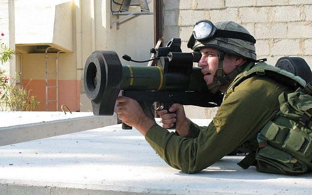 A handout photo of a new light-weight rocket launcher, thousands of which are to be sold to the IDF by Rafael Advanced Defense Systems, as was announced on Tuesday, January 30, 2018. (Photo by Rafael)