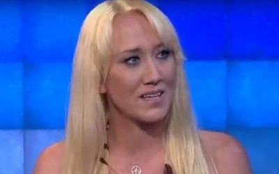 Porn star Alana Evans discussing her career on CNN. (YouTube screenshot)