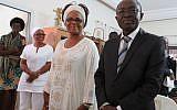 A couple in Abidjan marry according to Jewish tradition, December 9, 2017. (Bonita Sussman via JTA)