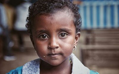 Child in Hatikva Synagogue, Gondar (Eden David/the Struggle for Ethiopian Jewry)