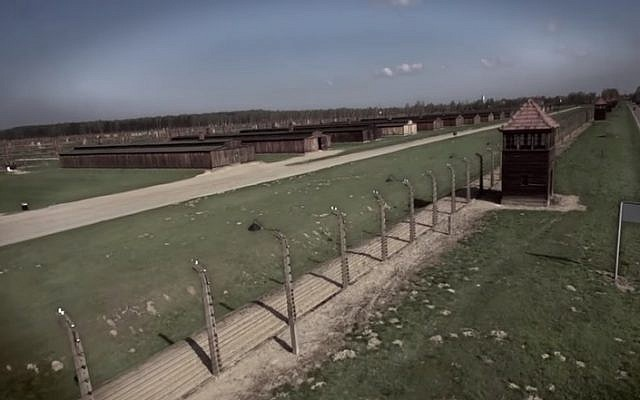 A view of the Auschwitz death camp in Oswiecim, Poland (YouTube screenshot)