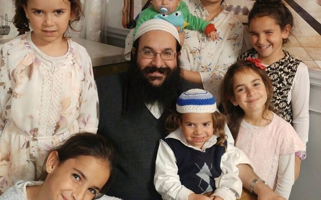 Rabbi Raziel Shevach with his family, in an undated photo. (Courtesy of the family)