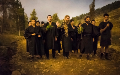 The Great Gehenna Choir, singing at the 2016 Mekudeshet festival (Courtesy Great Gehenna Choir)