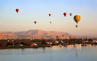 Illustrative: Hot air balloons floating over the Nile River in Luxor at sunrise (iStock)