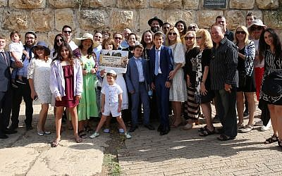 Rabbi Scheiner and members of the Palm Beach Synagogue during a previous synagogue mission to Israel (courtesy)