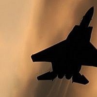 Illustrative. An Israeli F-15 fighter jet. (Tsahi Ben-Ami/Flash90)
