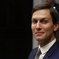Jared Kushner at a White House meeting with President Donald Trump, January 11, 2018. (Mark Wilson/Getty Images)