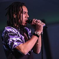 Rapper Vic Mensa performs at the Pencils of Promise Annual Gala 2017 in Central Park on December 7, 2017, in New York City. (Monica Schipper/Getty Images via JTA)