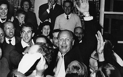Oskar Schindler during one of more than one dozen visits he made to Israel, beginning in 1961. During the Holocaust, Schindler used his factory and bribes to help save Jews from deportation to Nazi-built death camps (public domain)