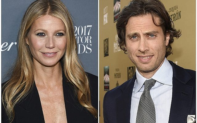 "In this combination photo, Gwyneth Paltrow attends the WSJ. Magazine 2017 Innovator Awards in New York on November 1, 2017, left, and executive producer/writer Brad Falchuk appears at the premiere of ""American Horror Story: Hotel"" in Los Angeles on October 3, 2015. Paltrow, 45, announced her engagement to Falchuk on Instagram on January 8, 2018. (Photos by Evan Agostini, left, and Chris Pizzello/Invision/AP)"