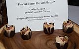 Peanut butter pie with bacon at the 'Trefa Banquet 2.0.' (Lydia Daniller)