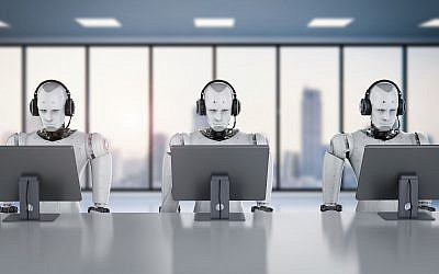 Robots working with headsets and monitors (PhonlamaiPhoto, iStock by Getty Images)