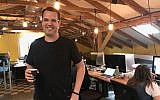 Lemonade co-founder Shai Wininger at his office in Tel Aviv; Dec. 20, 2017 (Shoshanna Solomon/Times of Israel)