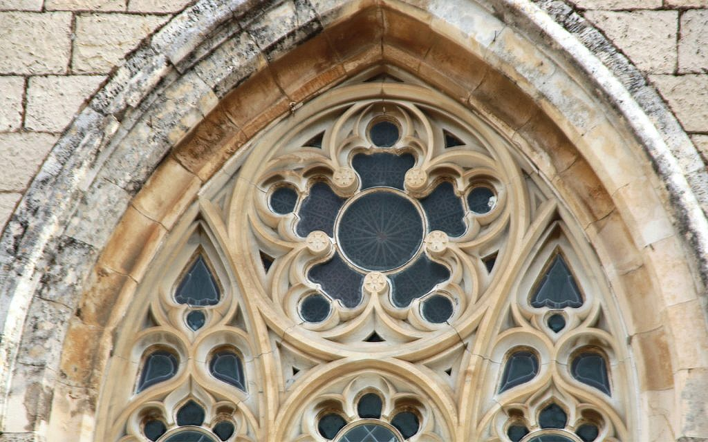Carved stone-and-marble lace adorns St. George's Cathedral. (Shmuel Bar-Am)