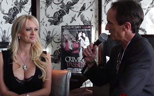 Stephanie Clifford, also known by her stage name Stormy Daniels, during an interview. (YouTube)