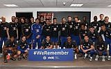 Chelsea soccer players join the World Jewish Congress' #WeRemember Campaign. (Credit: Chelsea Football Club)
