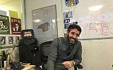 Nir Zohar, president and chief operating officer at Wix.com in his Tel Aviv office; Nov. 29, 2017  (Shoshanna Solomon/TimesofIsrael)