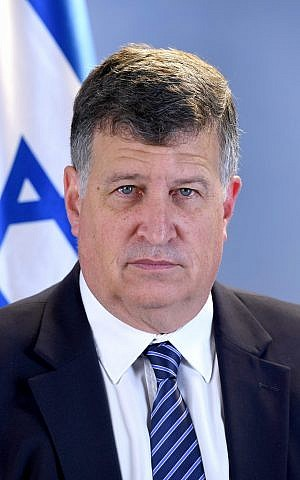 Chagai Tzuriel, the director-general of the Intelligence Ministry (courtesy, Intelligence Ministry)