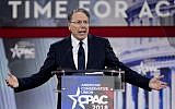 Vice President of the NRA Wayne LaPierre speaks during CPAC 2018 February 22, 2018 in National Harbor, Maryland.  (Alex Wong/Getty Images/AFP )