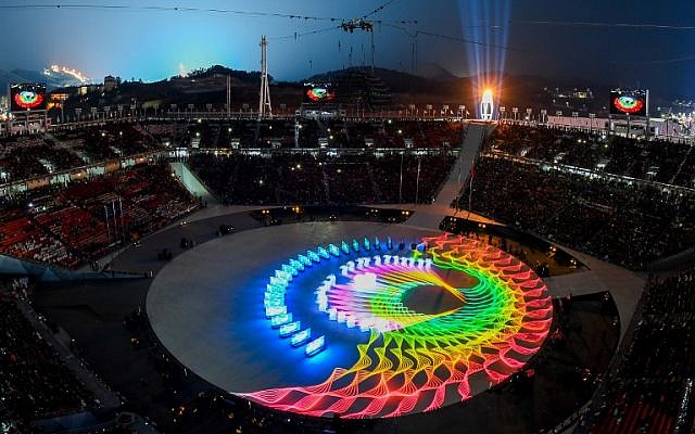 General view during the closing ceremony of the Pyeongchang 2018 Winter Olympic Games at the Pyeongchang Stadium on February 25, 2018. (AFP PHOTO / François-Xavier MARIT)