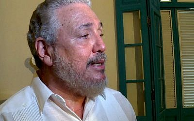 File photo taken on June 1, 2016 of Cuban Fidel Castro Diaz-Balart, son of Cuban leader Fidel Castro. (AFP/Adalberto Roque)