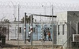 Detained African migrants inside the Holot detention center, located in Israel's southern Negev desert near the Egyptian border,February 4, 2018. (MENAHEM KAHANA/AFP)