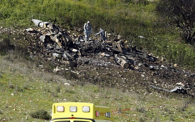 Early assessments suggest Syrian fire shot down Israeli jet - Israeli military spokesman