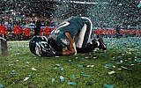 Patrick Robinson of the Philadelphia Eagles celebrates after defeating the New England Patriots 41-33 in Super Bowl LII at US Bank Stadium, February 4, 2018 in Minneapolis, Minnesota. (Elsa/Getty Images/AFP)